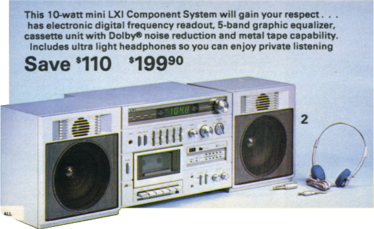 Sears_LXI_stereo_casette_1982