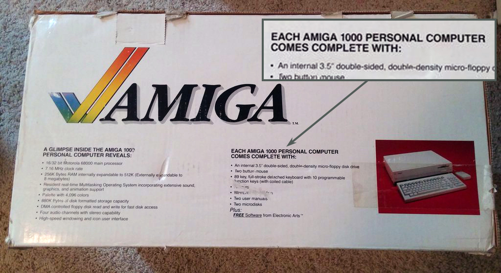 Amiga 1000 box side