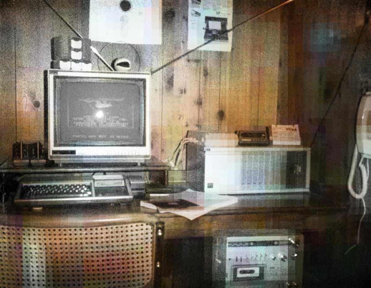 Colorized TI-99/4A setup circa 1983