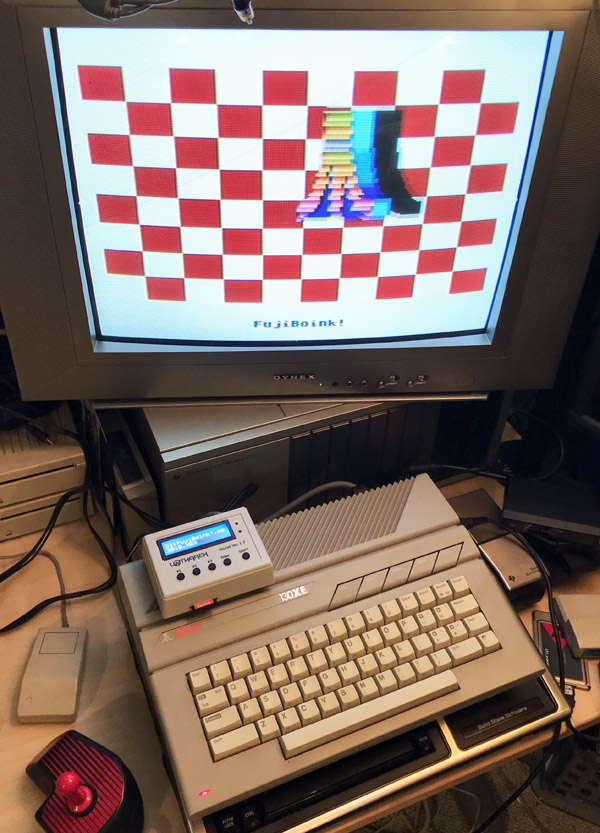 Atari 130XE running a demo - photo