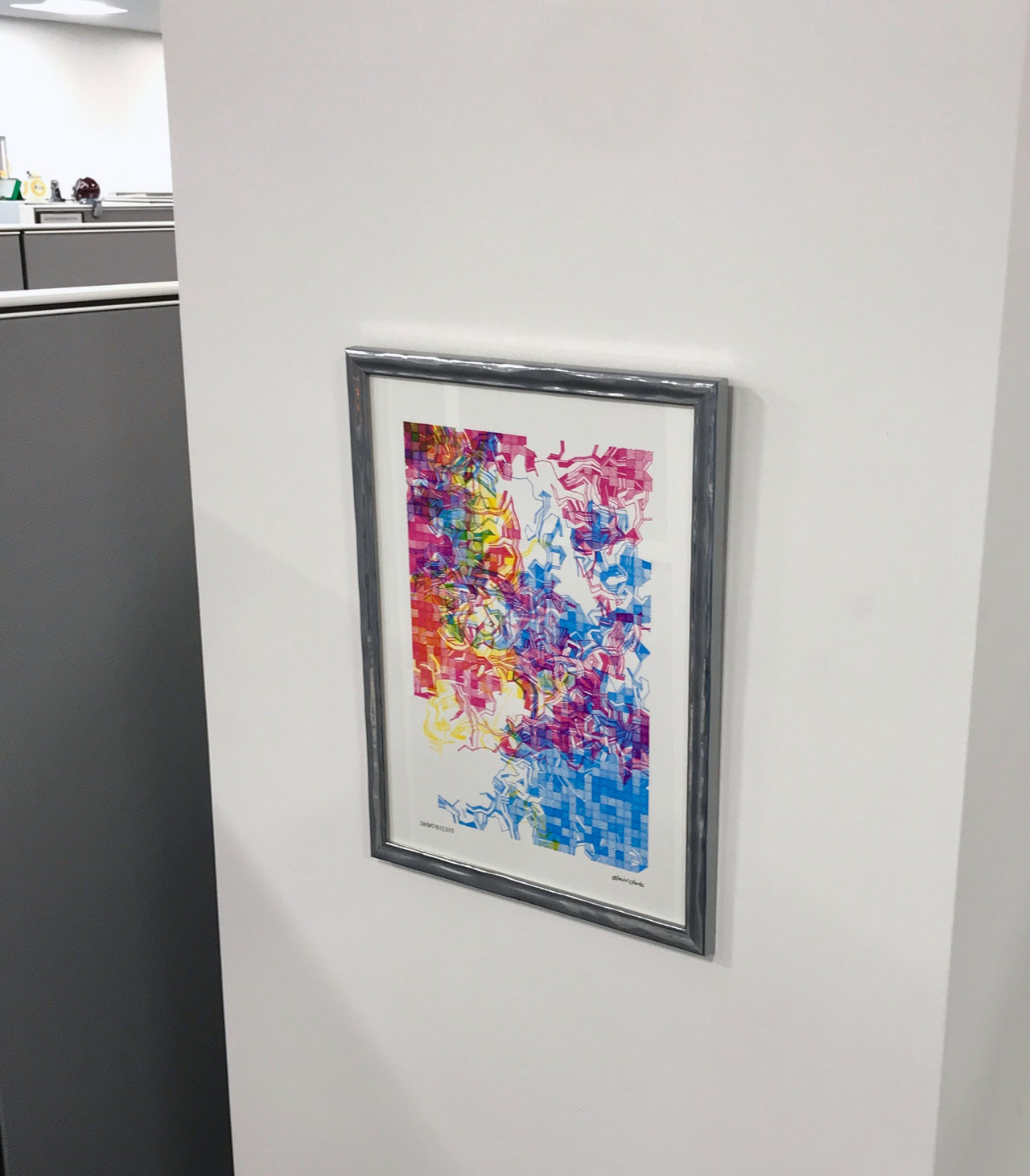 Plotter printout artwork by Paul Rickards